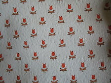 3 Vtg Double Roll Pre Pasted Vinyl Colonial Country Tulip Wallpaper 71sqft EACH