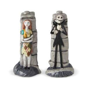 Disney Ceramics Jack And Sally Salt And Pepper Shaker 6002274 New