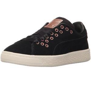 NIB New Puma Suede XL Lace VR Sneaker Black 363899 01 Girls YOUTH Sizes