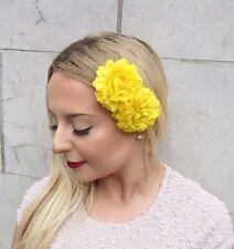 2 X Gelb Ringelblume Blume Haarklammern Vintage 1950er Jahre Brautjungfer