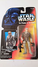 MIP KENNER STAR WARS THE POWER OF THE FORCE HANS SOLO IN HOTH GEAR 1995