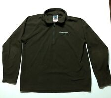 Spyder Mens Small 1/4 Zip Pullover Lightweight Fleece Jacket Brown