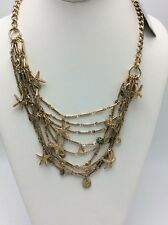 $138 Tommy Bahamas Starfish Abound Gold Tone Statement Necklace TB 20