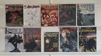 Conan Kull Robert E Howard Variants 10 Comic Book Lot Comics Collection Set Run