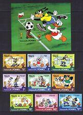 DOMINICA. WORLD CUP FOOTBALL SPAIN  SET + MINI SHEET MNH 1982