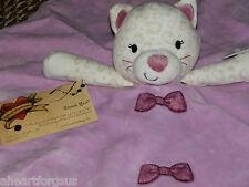 TAGGIES SECURITY BLANKET JUNGLE CAT KITTY LILAC PURPLE LEOPARD CHEETAH BOW SPOT