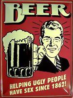 Cerveza Letrero de Metal Placa Signo Arqueado Tin 30 X 40CM