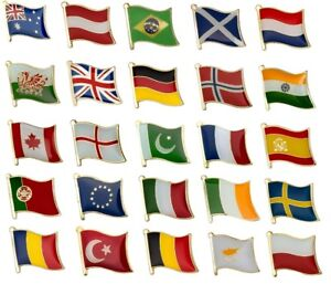 NATIONAL COUNTRY FLAG LAPEL / PIN BADGE HIGH QUALITY *** OVER 100 COUNTRIES ***