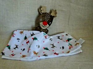 Tu Sainsburys Red Nose Reindeer Christmas Comforter Blankie VGC
