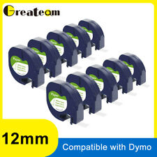 10 Pack Replace Dymo Letratag Refills 91330 10697 White Paper Label Tape 12mm 4m