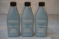 3 PACK. 8.5 oz. Redken Clear Moisture Conditioner. 250ml. NEW. FREE SHIPPING.