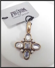 NEW PILGRIM DENMARK GOLD PLATED PENDANT AB CRYSTALS & PEARLS HANDMADE VINTAGE