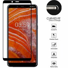 For Nokia 3.1 Plus Black Edged Screen Tempered Glass Protector Guard