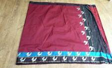 red vintage retro Indian silk vintage retro SARI lengha SA5413