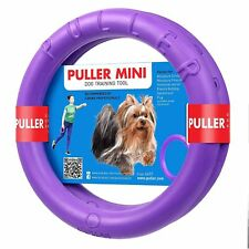 """(2 rings) Puller 7"""" 18cm MiniTwo Rings Fitness toy for small breed dog weak grip"""
