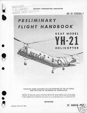 Piasecki H-21 YH-21 Workhorse Shawnee Helicopter manual 1950's flying banana SAR