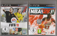 Fifa 11 2011 Fussball + NBA 2K11 Playstation 3 PS3 Sammlung