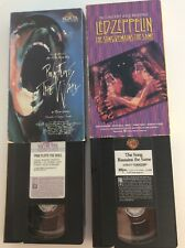 Pink Floyd The Wall & Led Zeppelin The Song Remains The Same VHS Lot