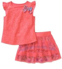 Faded Glory Girls Tulle Scooter Set Size 7-8 Med  Coral Freeze