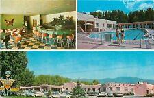 Taos NM~Kachina Lodge~Motel~Zuni Cocktail Lounge~Bucket Seats~1950-60s Cars