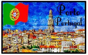 PORTO, PORTUGAL - SOUVENIR NOVELTY FRIDGE MAGNET- SIGHTS / FLAG / NEW / GIFTS