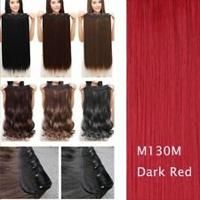 100% Nautral Thick Clip in 3/4 Full Head Hair Extensions Hairpiece Ombre Brown h