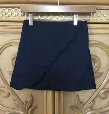 Limited Too Girls' Scallop-Edged Scooter Skirt 7 Navy