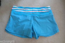 Seawheeze Lululemon Groovy Run Short Spry Blue Striped Polka Dot Waist 10