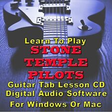 STONE TEMPLE PILOTS Guitar Tab Lesson CD Software - 52 Songs