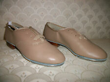 Capezio TeleTone Jazz Tap Shoe Adult White Tan 354 New In Box