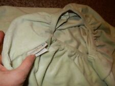 Pottery Barn Kids Green Chamois Velour Fitted Crib Toddler Bed Sheet