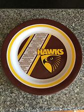 BNWT Official AFL Merchandise Hawthorn Hawks Logo/Song Melamine Plastic Plate
