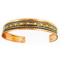 Pain Relief Arthritis Joint Pain Cuff Bracelet Pure Copper  Mens Womens Bangle