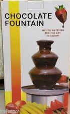 15 Inches 3 Layer Electric Chocolate Fountain Medium Melting Machine Set Fondue