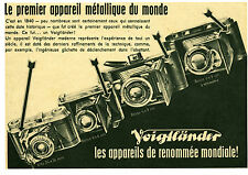 Publicité ancienne appareil photo Voigtländer no 4 1942 issue de magazine