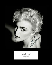 MADONNA #1 Signed Photo Print 10x8 Mounted Photo Print - FREE DELIVERY
