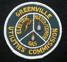 """GREENVILLE UTILITIES EMBROIDERED SEW ON PATCH COMMISSION GAS PITT COUNTY NC 3"""""""