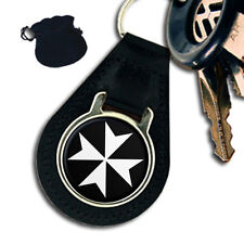 KNIGHTS OF MALTA MALTESE CROSS MASONIC LEATHER KEYRING