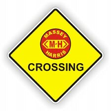 MASSEY HARRIS TRACTOR  NOVELTY CROSSING SIGN  POLY