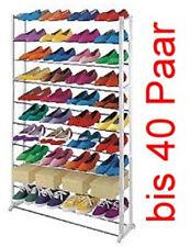 Schuhregal bis 40 Paar Schuhe, Schuhschrank Schuhablage Kunststoff Metall Regal