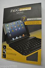 New Zag  ZAGGkeys 7 Case for Apple iPad Mini w/ Bluetooth Keyboard & Stand Black