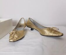 Rodolphe Menudier Gold Square Back Heels EU 38 UK 5