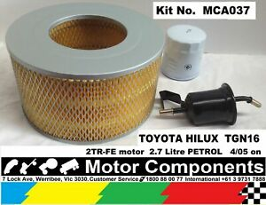 FILTER  KIT for TOYOTA HILUX TGN16 2TR-FE 2.7L 4 Cyl PETROL 4/05 on