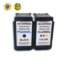 2 Pack PG-245XL&CL-246XL Black Color Ink Cartridge For Canon PIXMA MG2920 MG2922