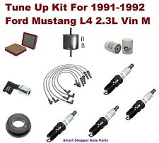 91-92 Ford Mustang L4 Spark Plug Wire Set, Spark Plug, Air Oil Fuel Filter, PCV
