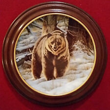1988 Collector Plate The Grizzly Bear Paul Krapf Bradex #9568A With Frame