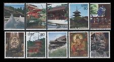 """Japan 2761a-j USED Singles from World Heritage Site sheet 3 """"Kyoto"""""""