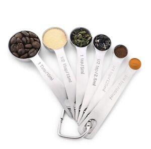 6 Pcs/set Measuring Spoon Set Premium stainless steel kitchen utensils Measure