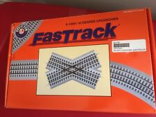 Lionel Trains Fastrack 45 Degree Crossover 6-12051 EUC  pre owned