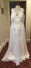 COUTURE IVORY CHIFFON WEDDING DRESS - BY JONATHAN JAMES
